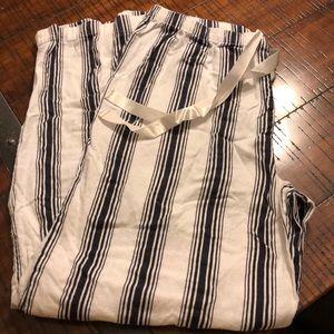 LOFT blue and white stripe size large pajama pants